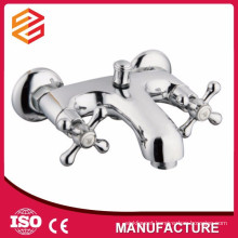 copper shower faucet surface mounted mixer shower dual handle shower mixer
